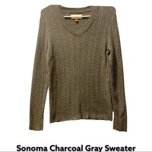 NWOT Sonoma Charcoal Gray Sweater